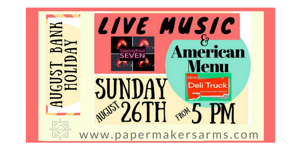 August Bank Holiday Sunday – Live Music & American Menu