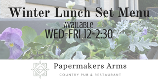 ** New ** Winter Set Lunch Menu