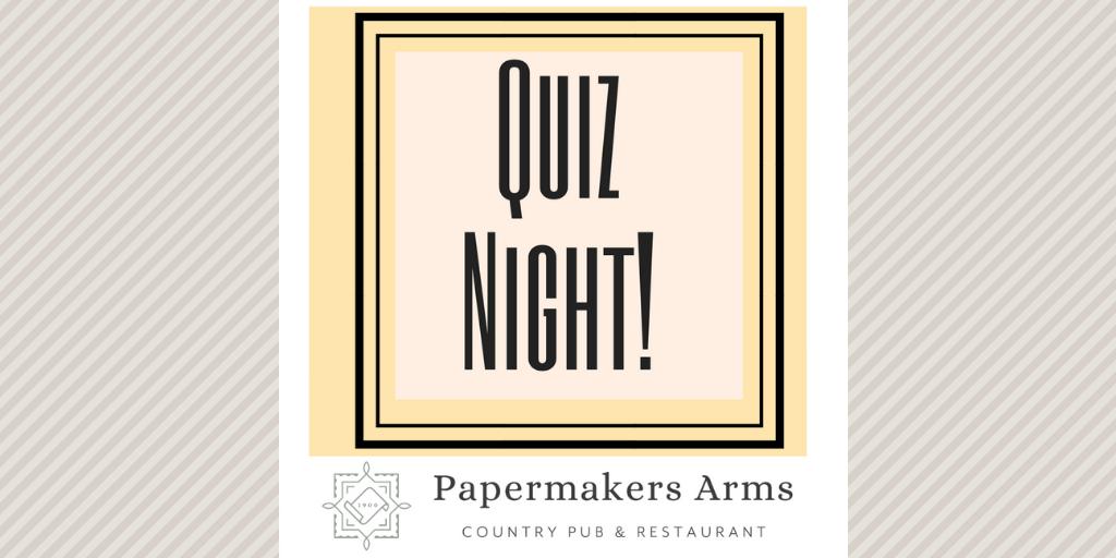 Next Quiz Night – Sunday April 7th