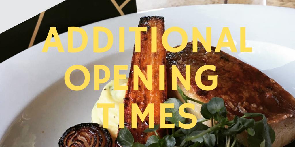 November – Additional Opening!