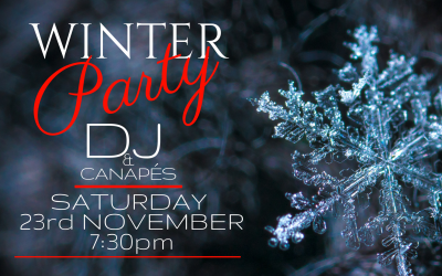 Winter Party, Saturday 24th November